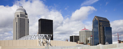 Panoramic Downtown of Louisville Royalty Free Stock Photo