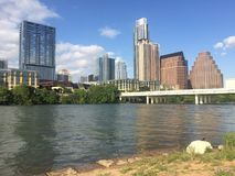 Panoramic downtown skyline Stock Photos
