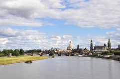 Panoramic of Dresden (Germany) Royalty Free Stock Images