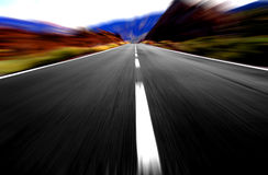 Panoramic  driving Royalty Free Stock Images