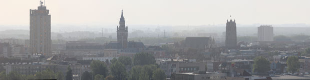 Panoramic Dunkerque downtown Royalty Free Stock Photography
