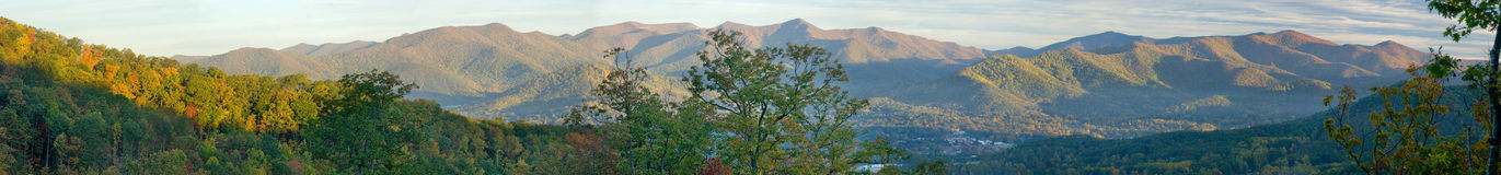 Panoramic early morning in the valley Stock Image