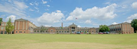Panoramic of East High School Memphis, Tennessee royalty free stock photography