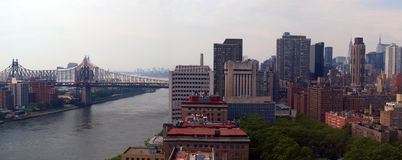 Panoramic East River scene Stock Images