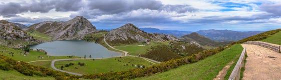 Panoramic Enol Lake Stock Photo