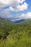 Panoramic of Escambray Mountains stock image