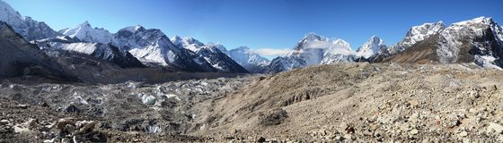 Panoramic Everest landscape Royalty Free Stock Photography