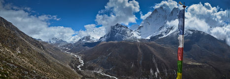 Panoramic Everest landscape Stock Images