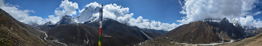 Panoramic Everest landscape Stock Photo
