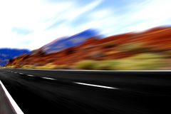 Panoramic  fast speed view Royalty Free Stock Photography