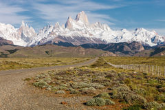 Panoramic of Fitz Roy, Argentina Royalty Free Stock Photography