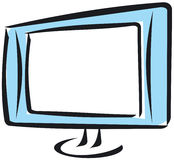 Panoramic flat screen Royalty Free Stock Photo