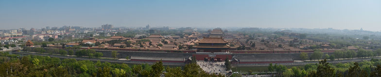 Panoramic Forbidden City Royalty Free Stock Photo
