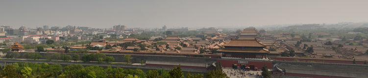 Panoramic Forbidden City Royalty Free Stock Image
