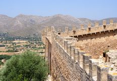 Panoramic fortress wall Royalty Free Stock Photo