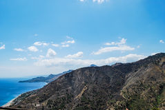 A panoramic from Forza d`Agro. Sicily Royalty Free Stock Images