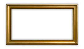 Panoramic frame. Vintage panoramic frame on white background, clipping path included stock photos