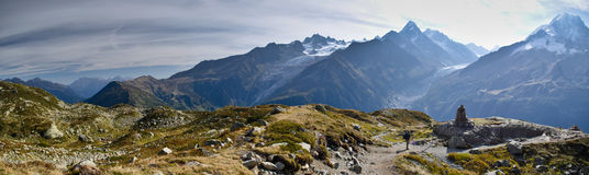 Panoramic French Alps Stock Photo