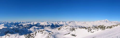 Panoramic French Alps Royalty Free Stock Photography