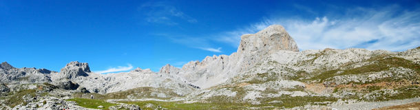 Panoramic FuenteDe. A panoramic view of FuenteDe in Spain Royalty Free Stock Image