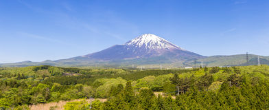 Panoramic of fuji mountain Royalty Free Stock Images