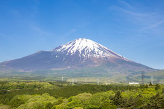 Panoramic of fuji mountain Stock Photos