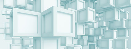 Panoramic Futuristic Background Stock Photos