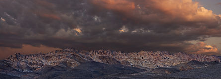 Panoramic of Gabbs Mountain Range at Sunset Royalty Free Stock Photo
