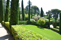 Panoramic garden and park. View Santa Clotilde Gardens Stock Photography