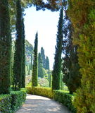 Panoramic garden and park. View Santa Clotilde Gardens Stock Photos