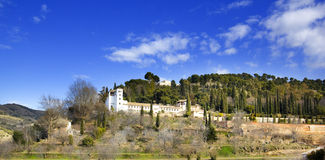 Panoramic of Generalife Royalty Free Stock Photo