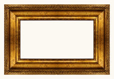 Panoramic gold frame royalty free stock photos