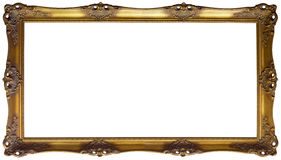 Panoramic Golden Frame Cutout Royalty Free Stock Photos