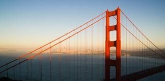 Panoramic Golden Gate Bridge San Francisco Marin County Headland. S Royalty Free Stock Image