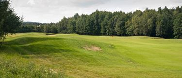 Panoramic golf field Stock Image