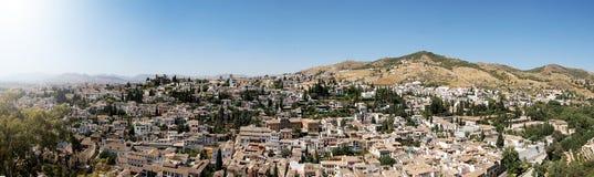 Panoramic of Granada, Spain Royalty Free Stock Photos