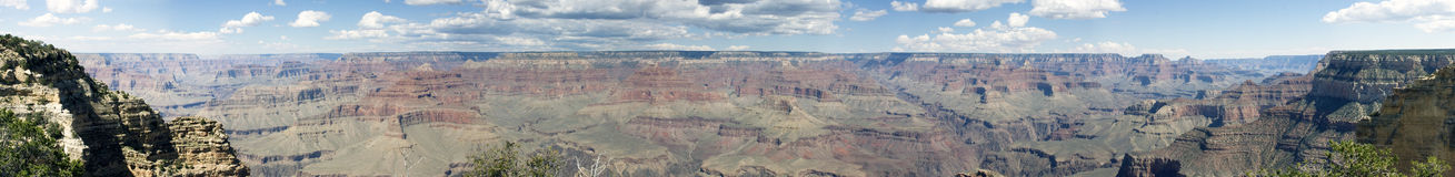 Panoramic of the grand canyon Royalty Free Stock Photography