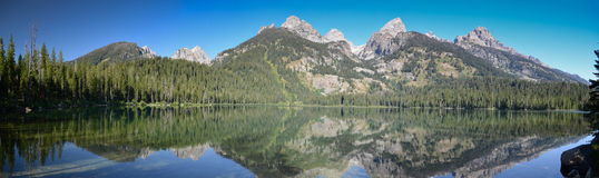 Panoramic Grand Teton National Park Royalty Free Stock Images