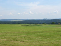 Panoramic grassland scenery in Thuringia Royalty Free Stock Photography