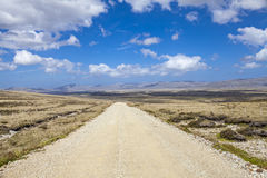 Panoramic Gravel road on East Falkland Stock Image
