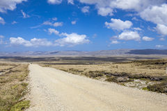Panoramic Gravel road on East Falkland Stock Images
