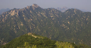 Panoramic Great Wall of China Royalty Free Stock Images