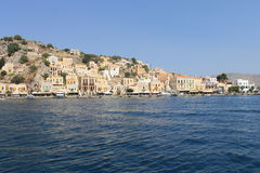 Panoramic greek island Royalty Free Stock Photos