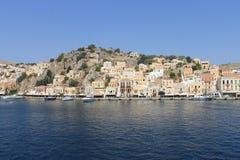 Panoramic greek island Stock Photos