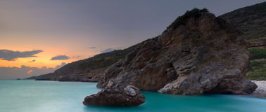 Panoramic Greek seascape Stock Image
