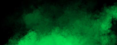 Panoramic green fog mist texture overlays. Abstract smoke isolated background for effect, text or copyspace . Stock illustration