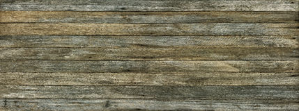 Panoramic grunge background of old wood boards. Toned effect Stock Image