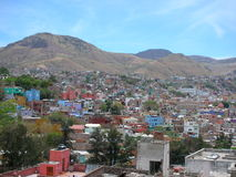 Panoramic Guanajuato Royalty Free Stock Photos