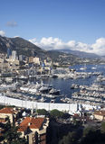Panoramic harbor view Monte Carlo Monaco Europe  yachts sailboat Royalty Free Stock Photography