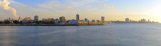 Panoramic havana skyline. Panoramic view of havana skyline and waterfront Royalty Free Stock Photos